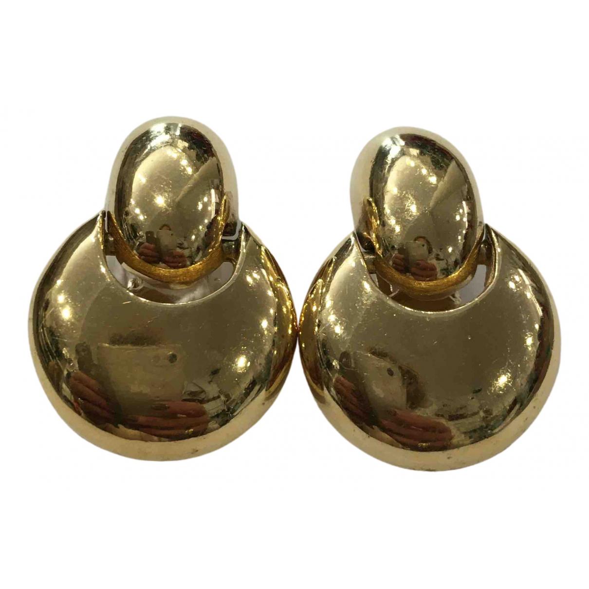 Dior - Boucles d'oreilles   pour femme en metal - dore