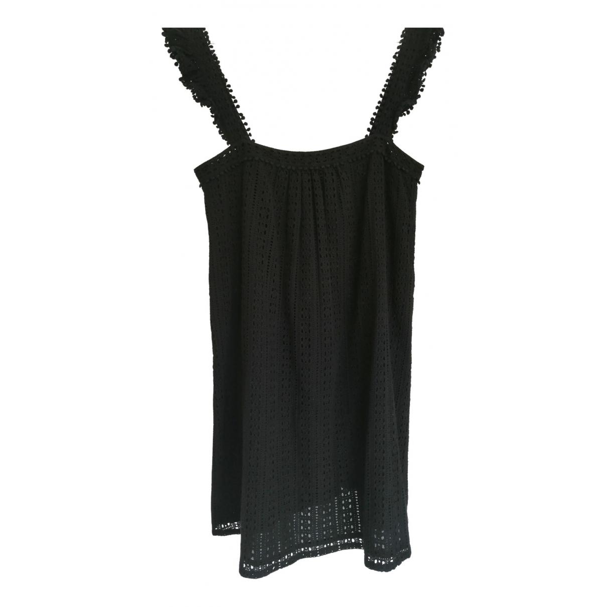Sezane \N Kleid in  Schwarz Baumwolle