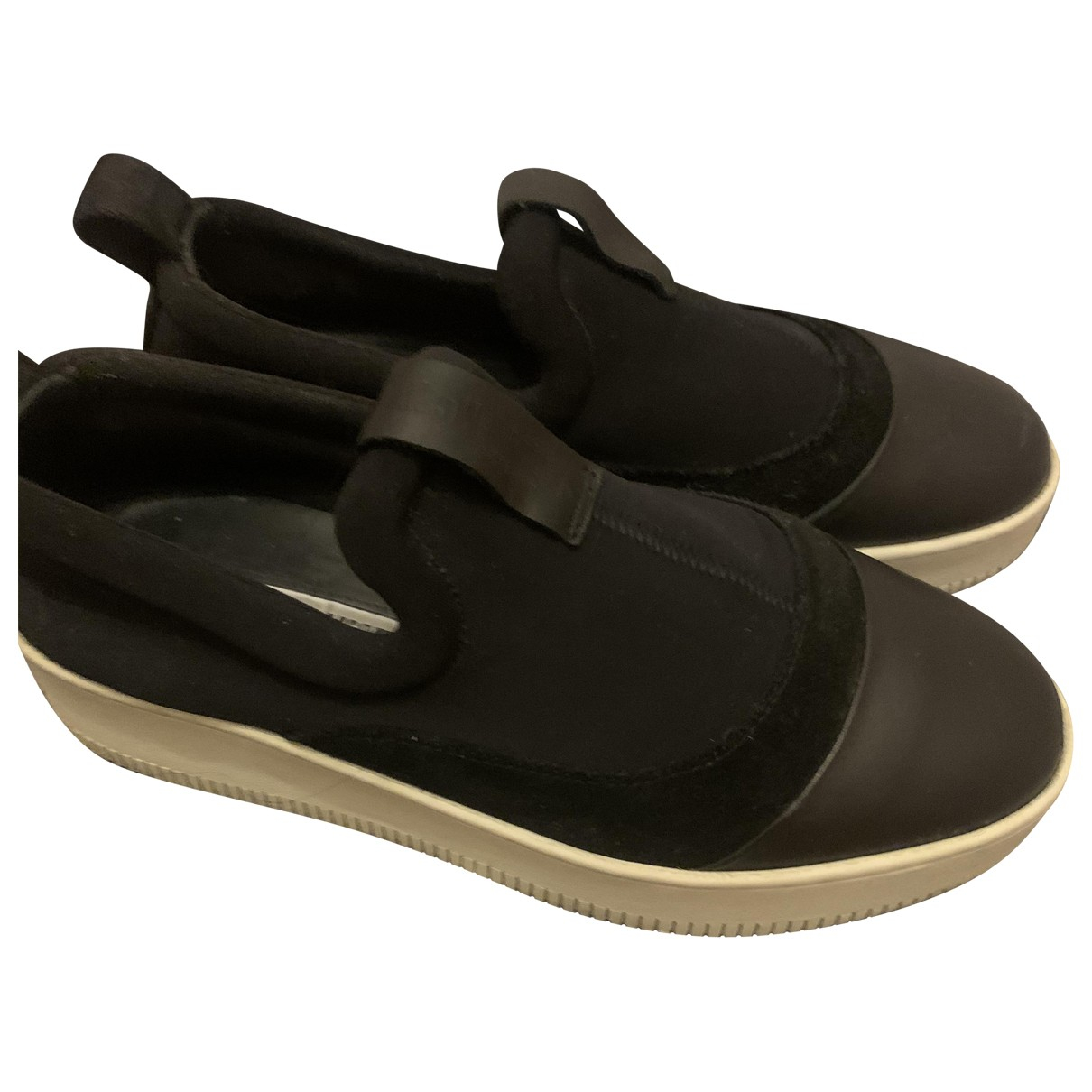 Mcq \N Black Leather Trainers for Women 39 EU