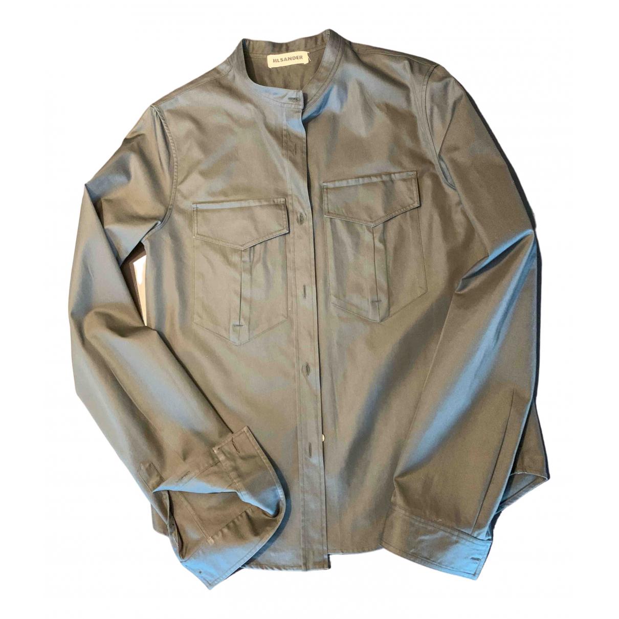 Jil Sander \N Khaki Cotton  top for Women 40 IT