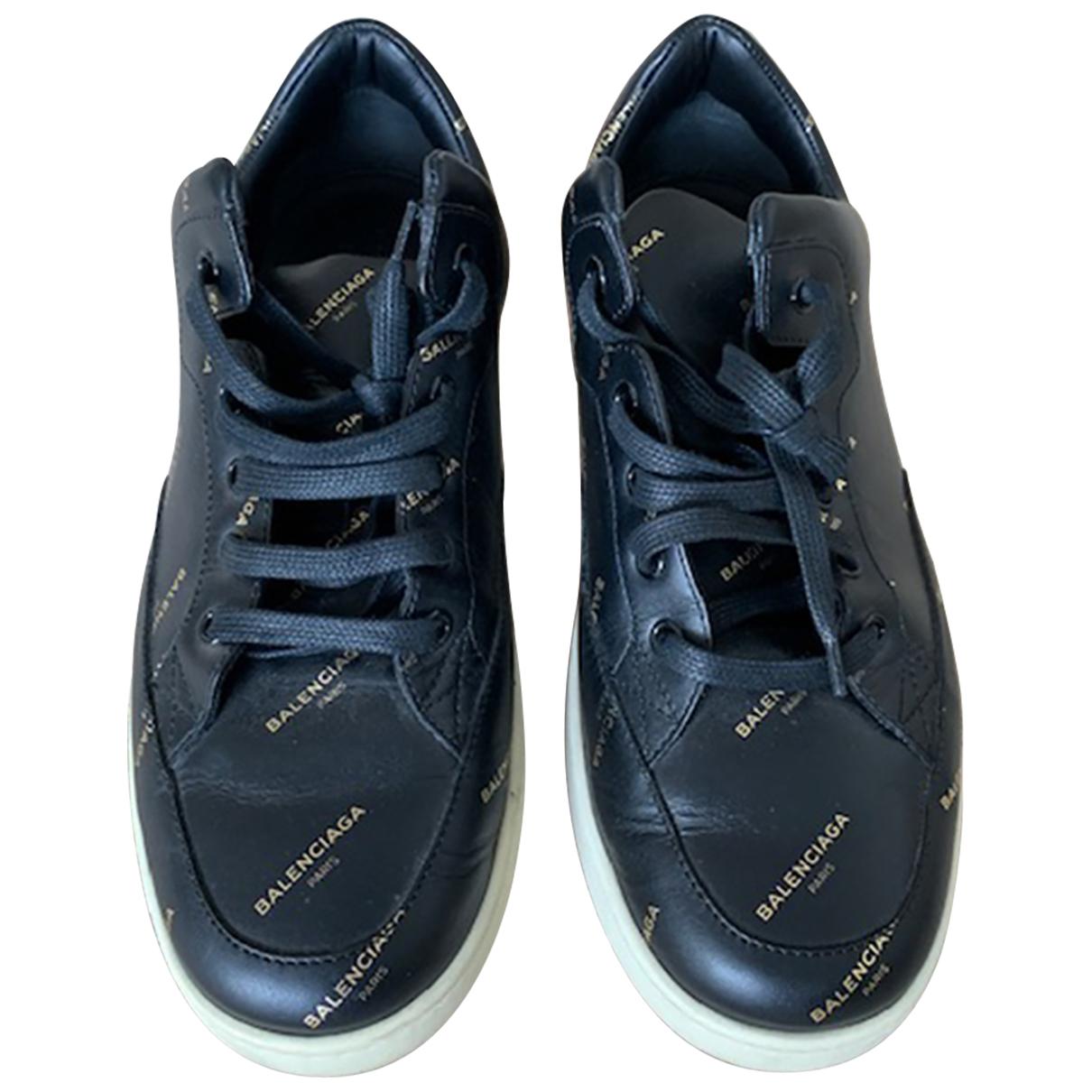 Balenciaga N Black Leather Trainers for Women 41 EU