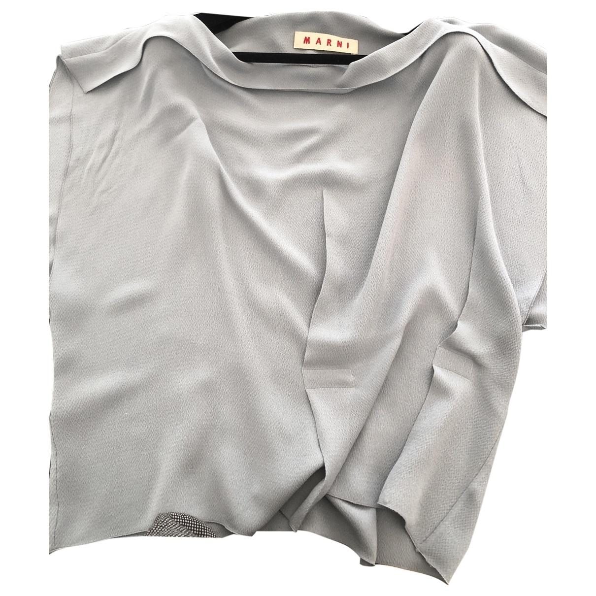 Marni \N Blue Silk  top for Women 40 FR