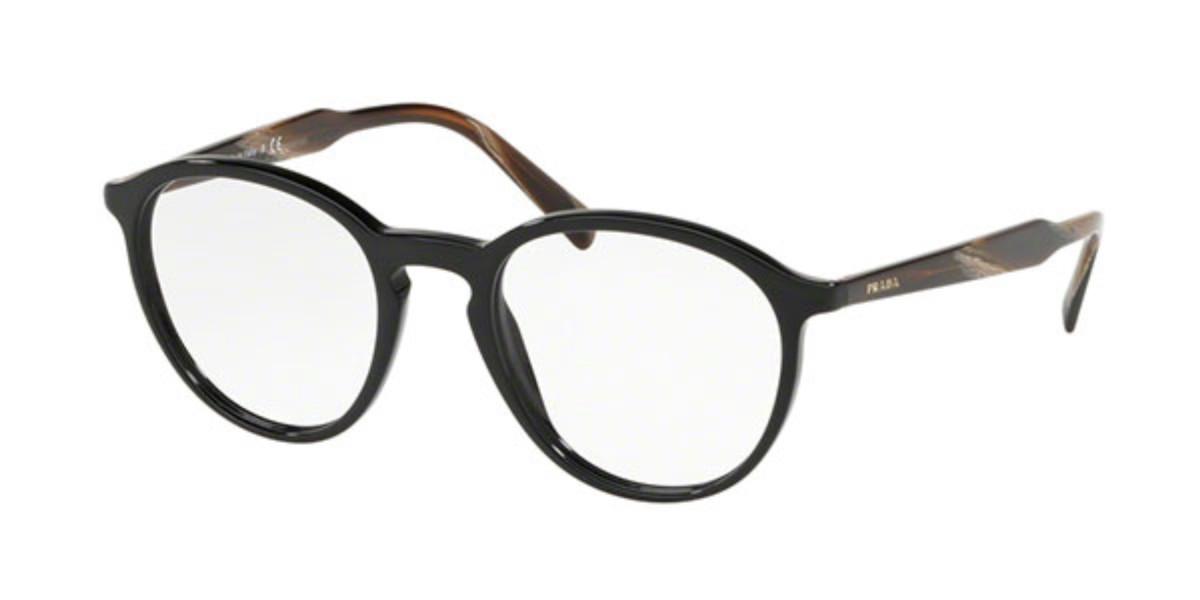 Prada PR13TV LJ91O1 Men's Glasses Black Size 49 - Free Lenses - HSA/FSA Insurance - Blue Light Block Available