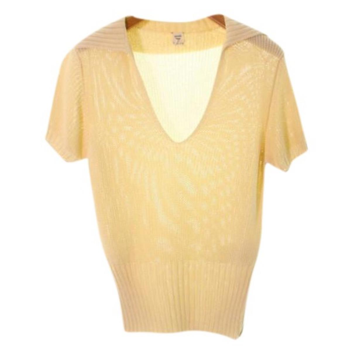 Hermes \N Pullover in  Beige Synthetik