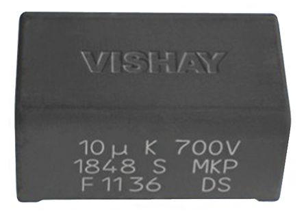 Vishay 3μF Polypropylene Capacitor PP 700V dc ±5% Tolerance Through Hole MKP1848S DC-Link Series