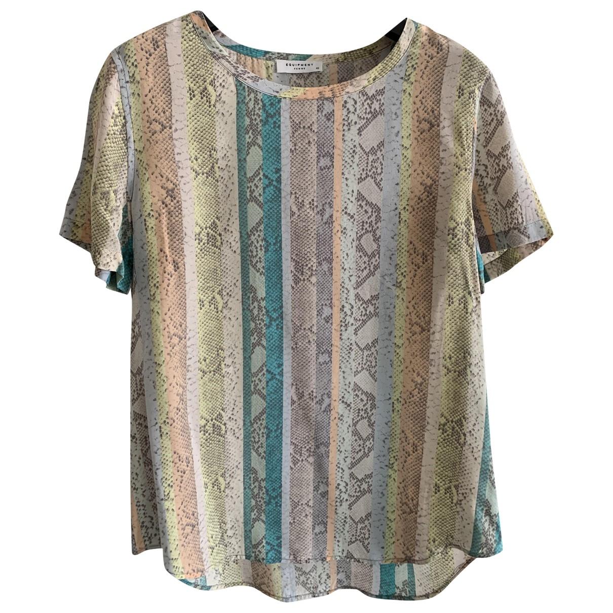 Equipment - Top   pour femme en soie - multicolore