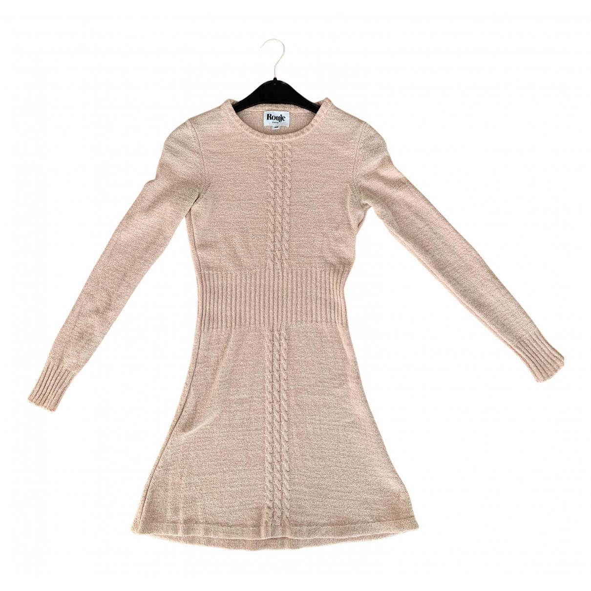 Rouje \N Kleid in  Rosa Wolle