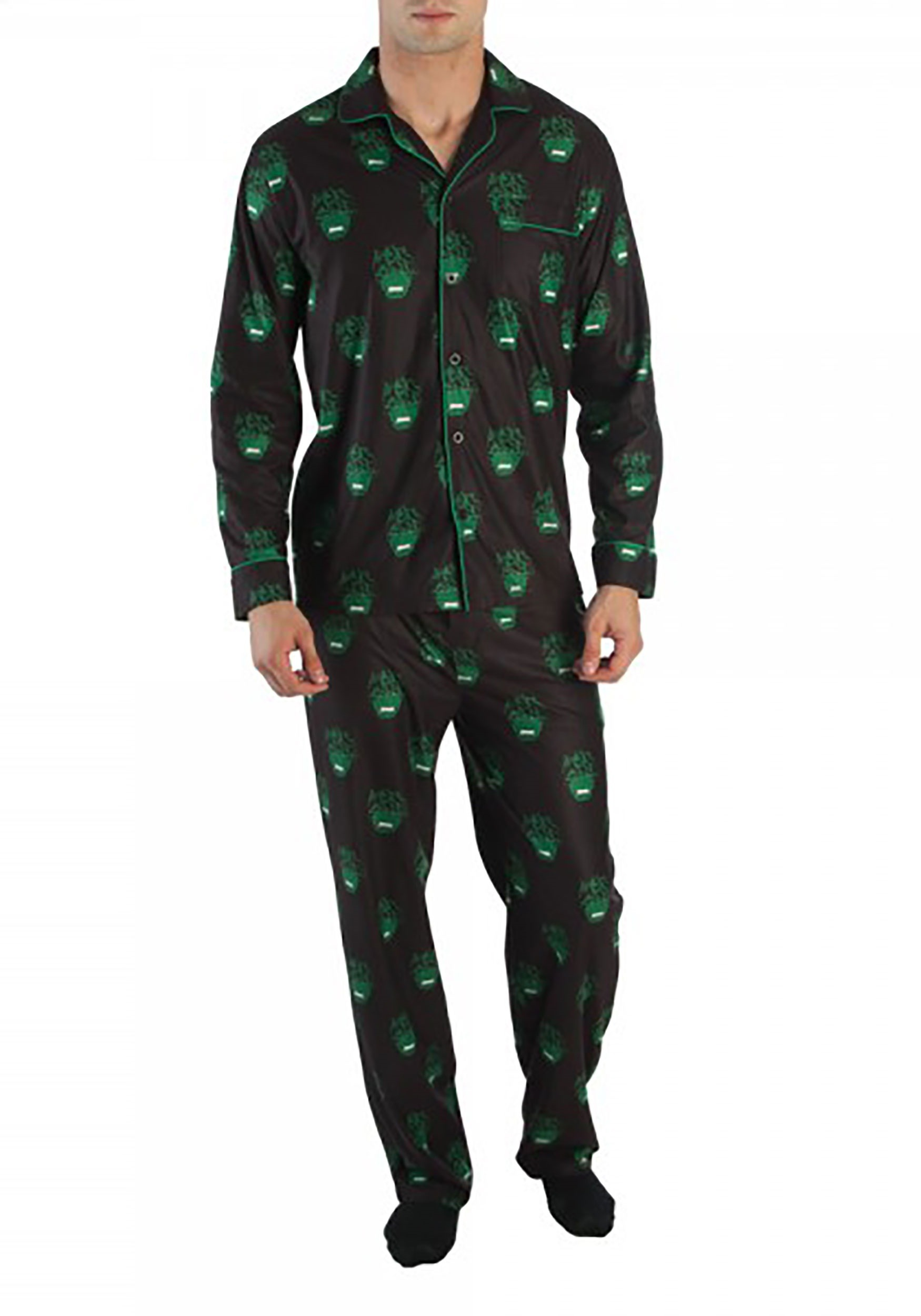 Marvel Hulk All Over Print Men's Pajama Set