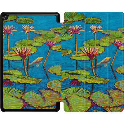 Amazon Fire HD 8 (2017) Tablet Smart Case - Will Cormier - Six Koi in Lilly Pond von TATE and CO