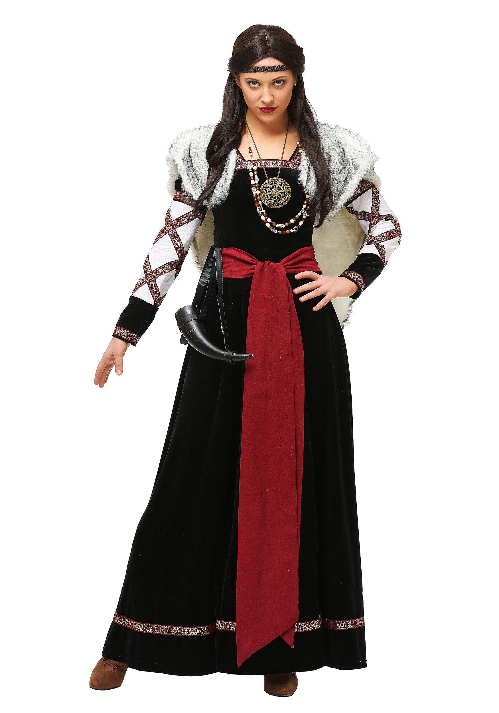 Dark Viking Dress Costume for Women