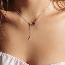 Halskette mit Stern und Lariats Mond Detail