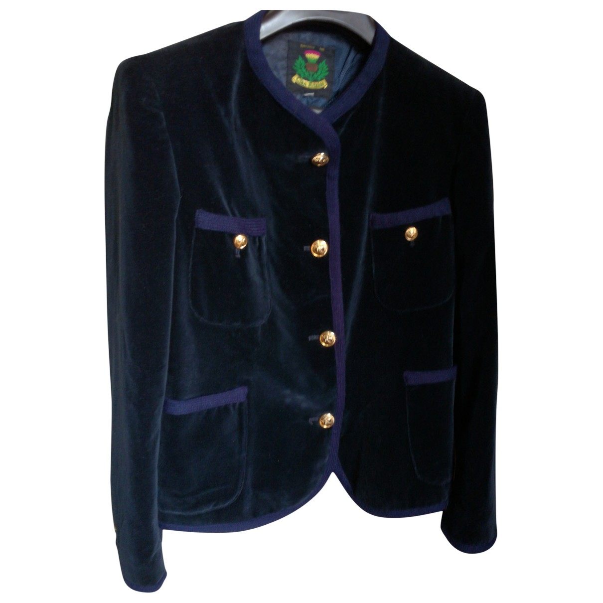 Non Signé / Unsigned \N Blue Velvet jacket for Women 44 IT
