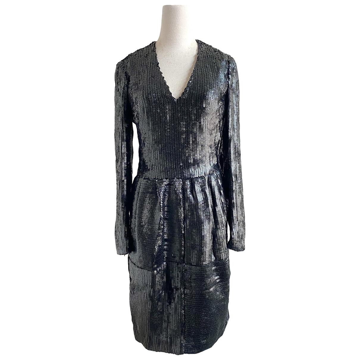 Yves Saint Laurent \N Kleid in  Schwarz Mit Pailletten