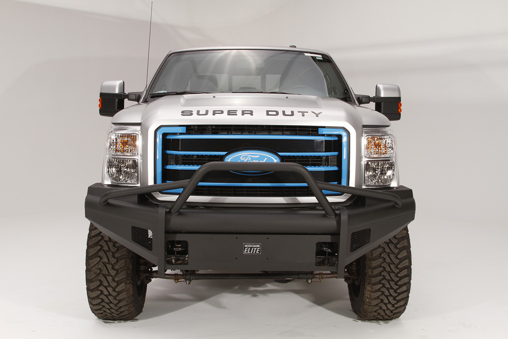 Fab Fours FS99-Q1662-1 99-04 Ford Super Duty Front Elite Ranch Bumper w/Pre-Runner Guard (F-250 - F-550) w/Tow Hooks