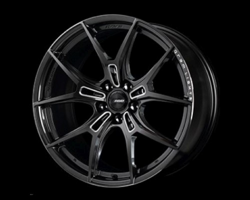 GramLights WGFZ245EAAC 57FXZ Wheel 19x8.5 5x114.3 45mm Super Dark Gunmetal/Machining/Rim Edge DC