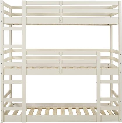 BW3TOTWH Solid Wood Triple Bunk Bed in