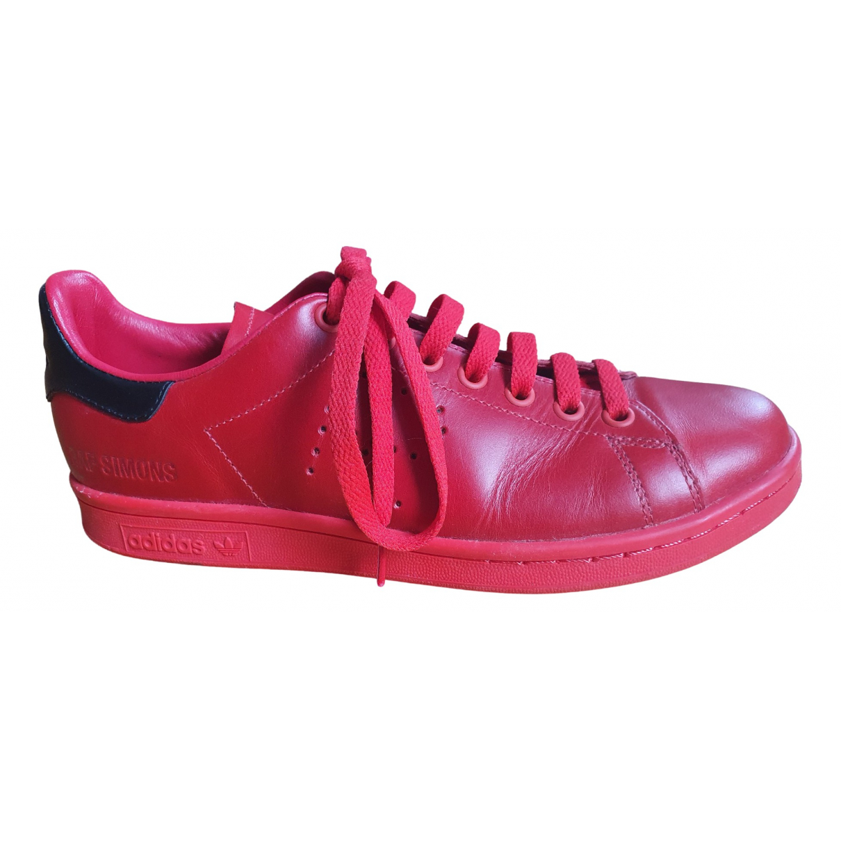 Adidas X Raf Simons Stan Smith Red Leather Trainers for Women 39 EU