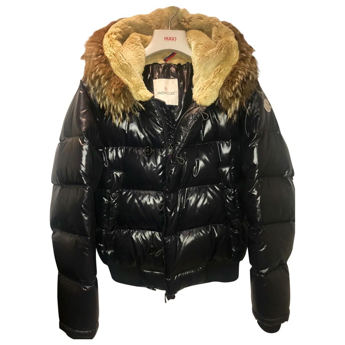 Moncler - Manteau Fur Hood pour homme en lapin - noir