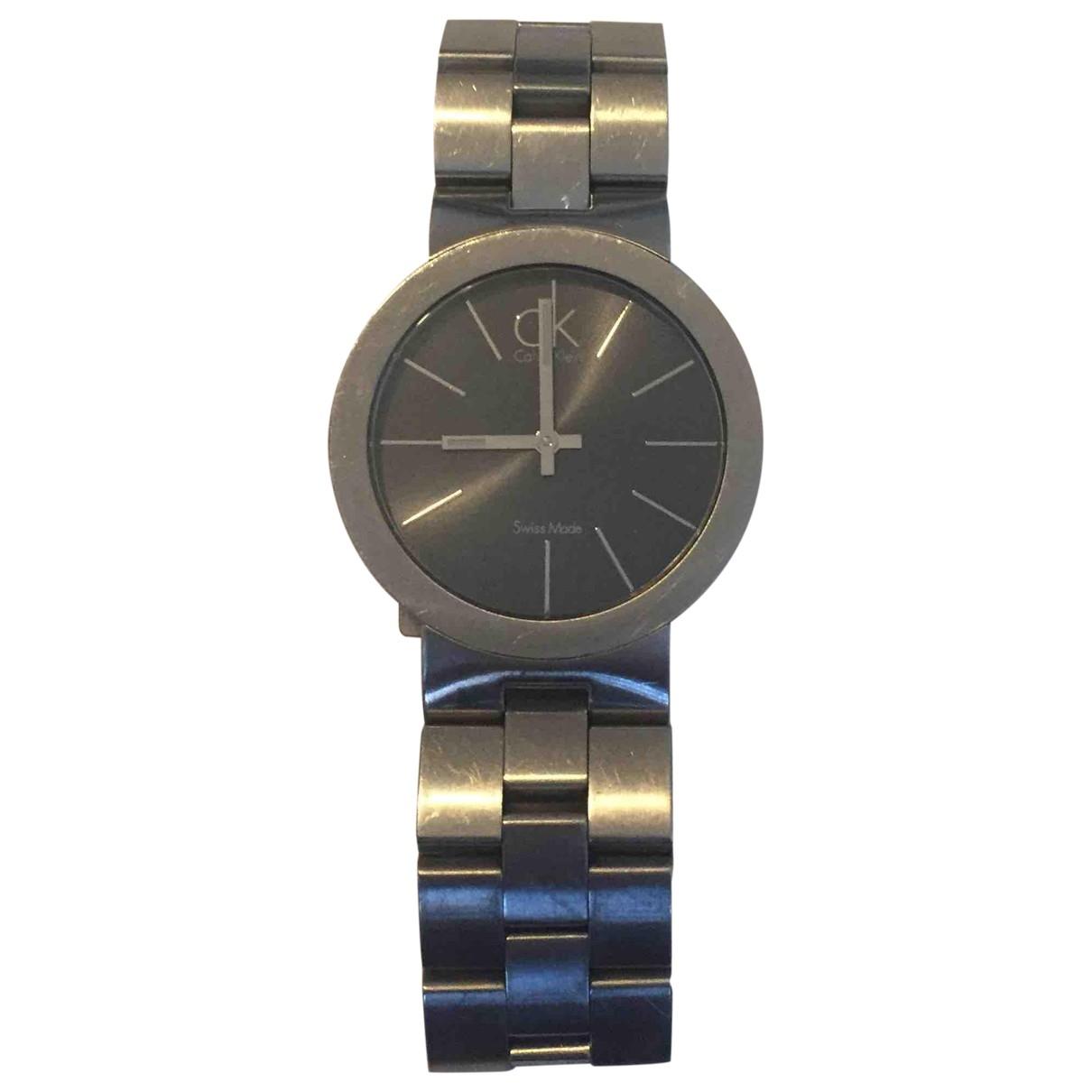 Calvin Klein \N Uhr in  Silber Stahl