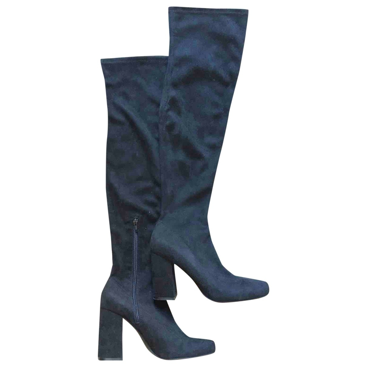 Zara \N Stiefel in  Schwarz Samt