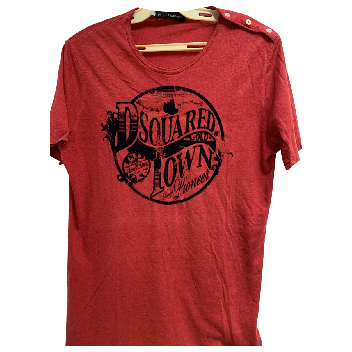 Dsquared2 \N Red Cotton T-shirts for Men S International