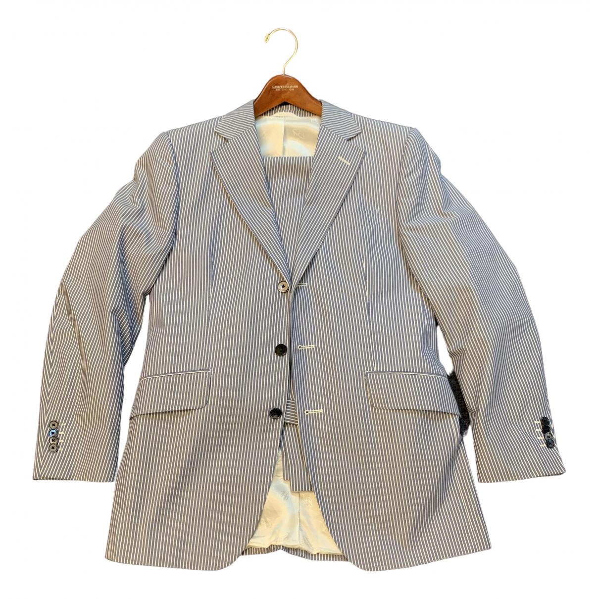 - Costumes   pour homme en coton - bleu