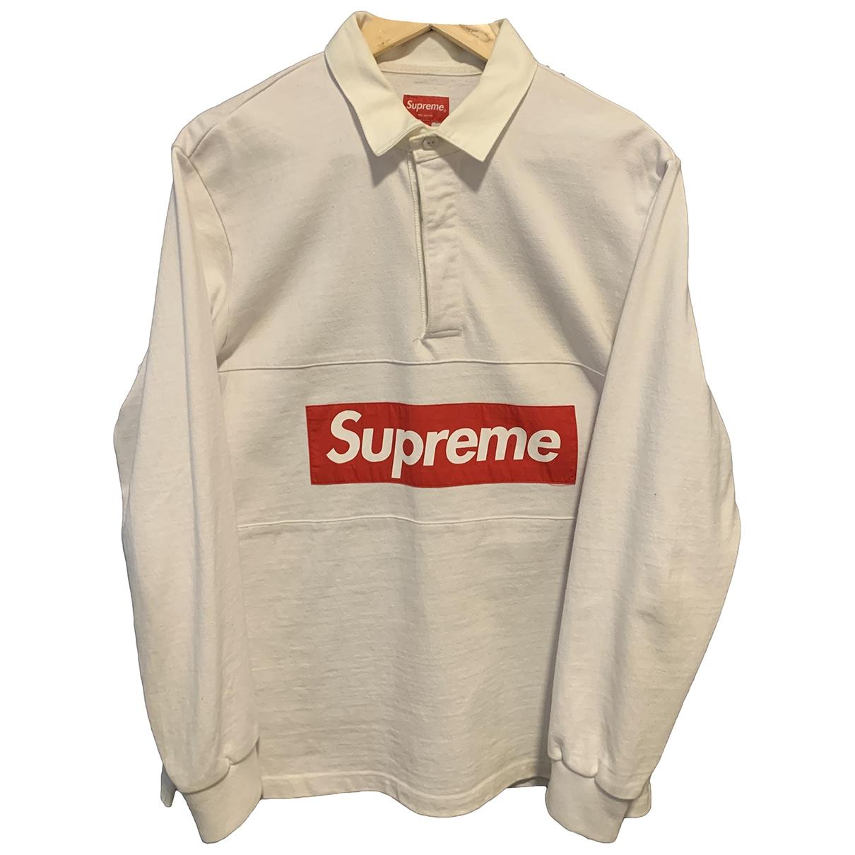 Supreme - Polos   pour homme en coton - blanc