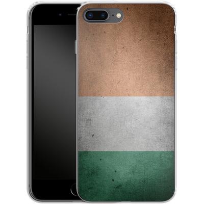 Apple iPhone 8 Plus Silikon Handyhuelle - Rustic Irish Flag von caseable Designs