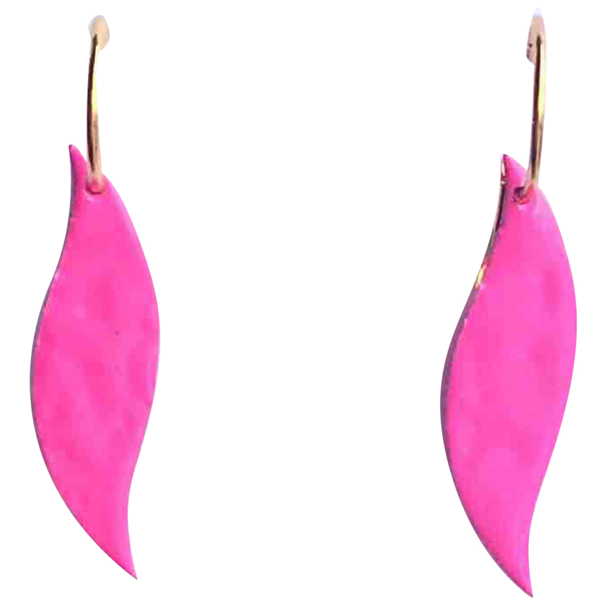 Non Signé / Unsigned \N Pink Metal Earrings for Women \N