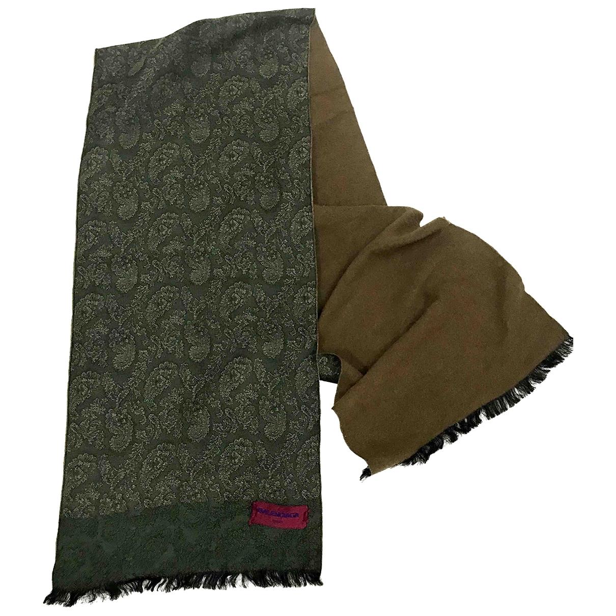 Balenciaga \N Green Wool scarf for Women \N