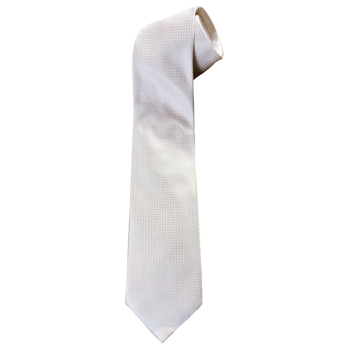 Moschino \N Krawatten in  Weiss Seide