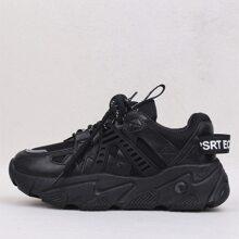 Sneakers mit Band vorn und Netzstoff