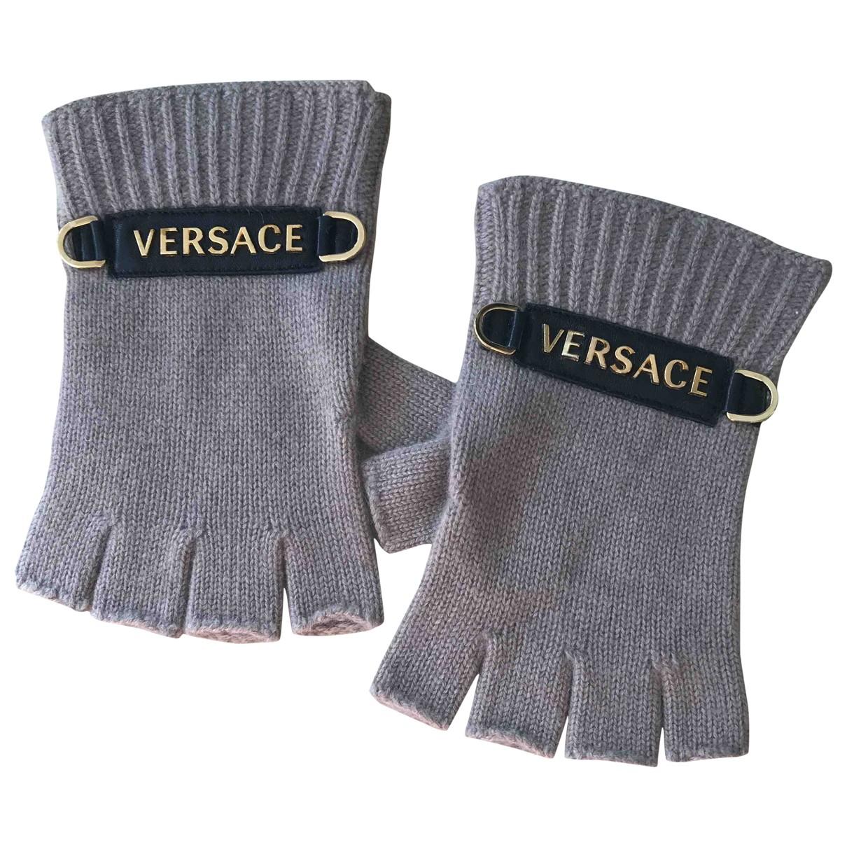 Versace - Gants   pour homme en cachemire - beige