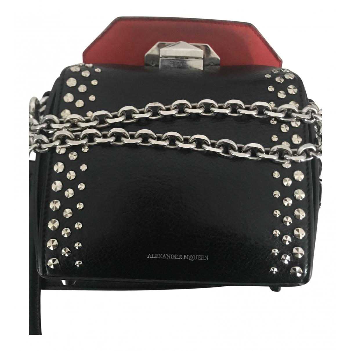 Alexander Mcqueen Box 16 Handtasche in  Schwarz Leder