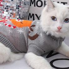 Jersey de gato con patron de alce