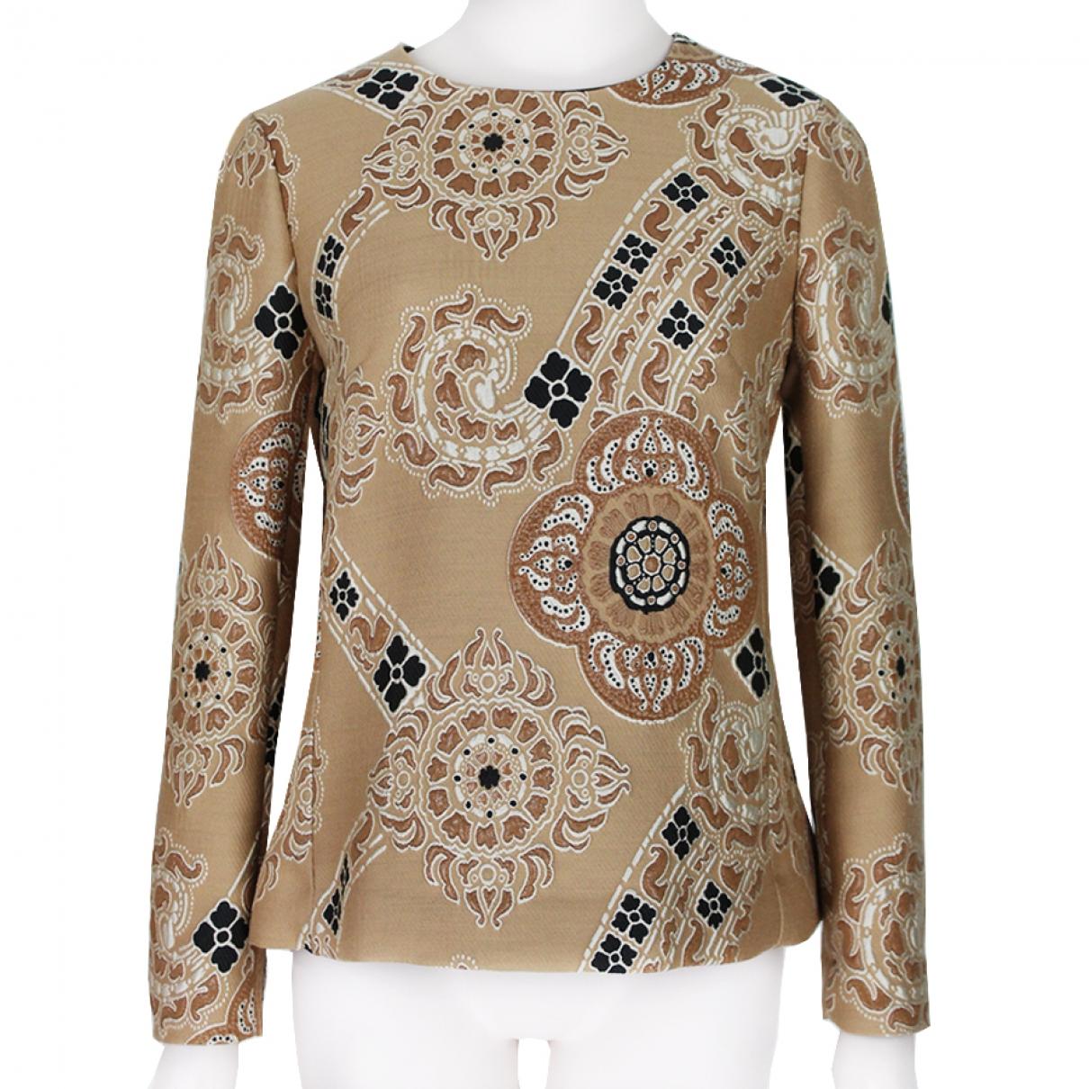 Dries Van Noten - Top   pour femme en laine - beige