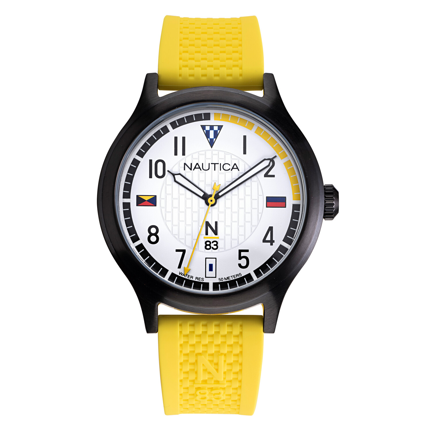 Nautica Men's Crissy Field NAPCFS902 Yellow Silicone Quartz Fashion Watch