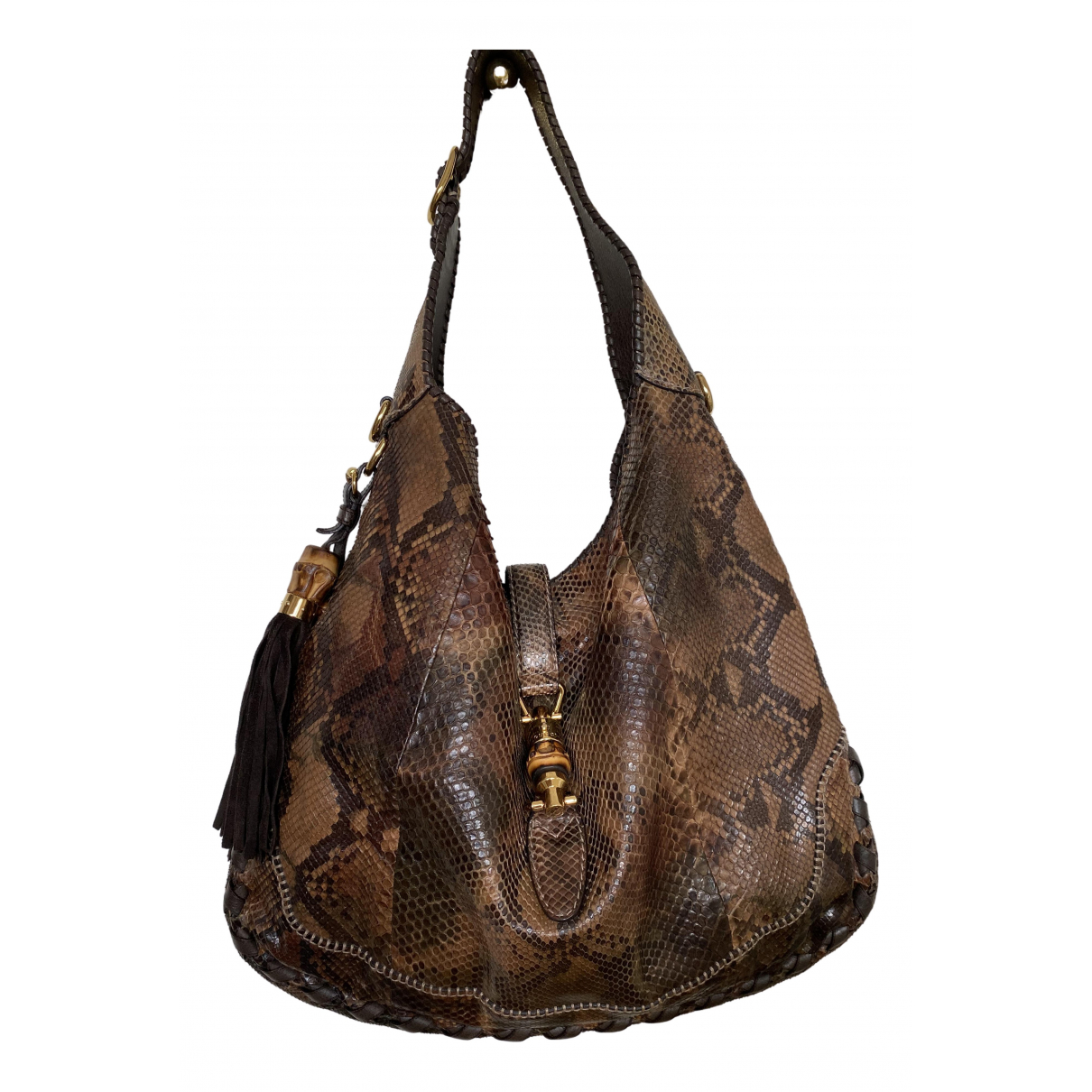 Gucci Jackie Brown Python handbag for Women \N
