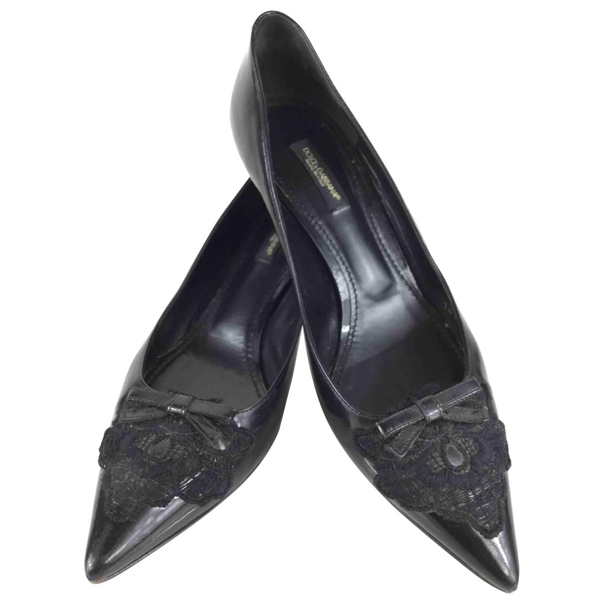Dolce & Gabbana \N Pumps in  Schwarz Leder