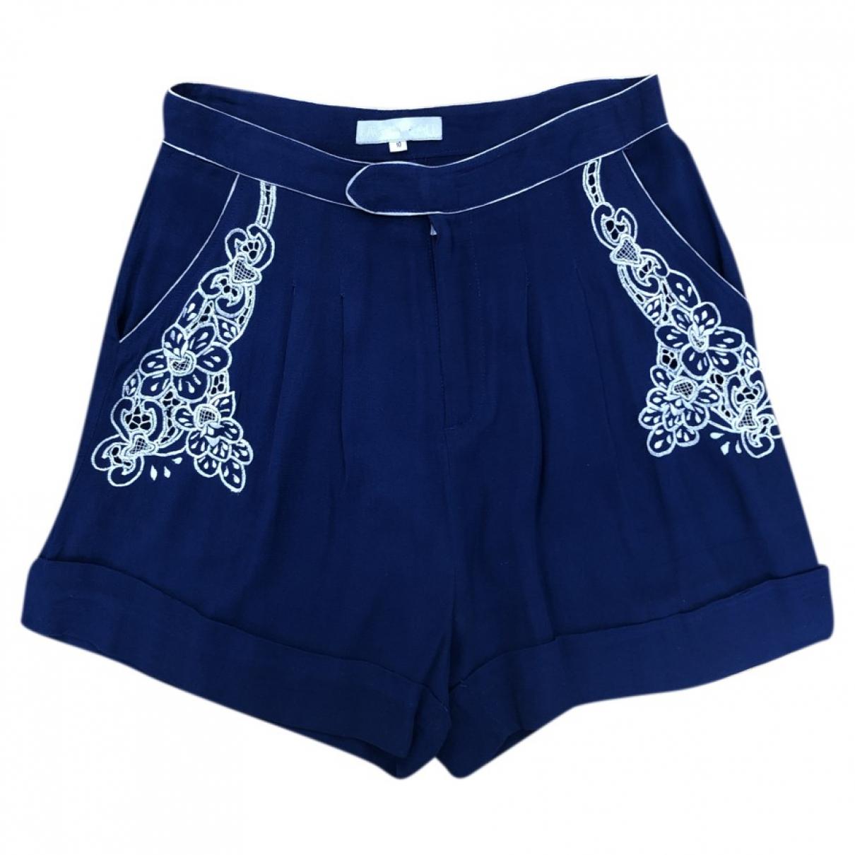 Alice Mccall \N Shorts in  Blau Leinen