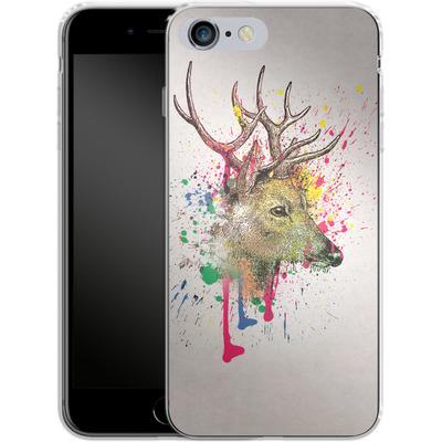 Apple iPhone 6 Plus Silikon Handyhuelle - Splatter Deer von Mark Ashkenazi