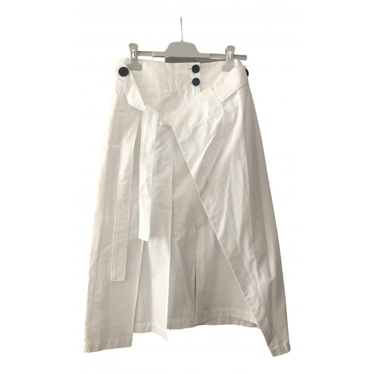 Eudon Choi \N White Cotton skirt for Women 10 UK