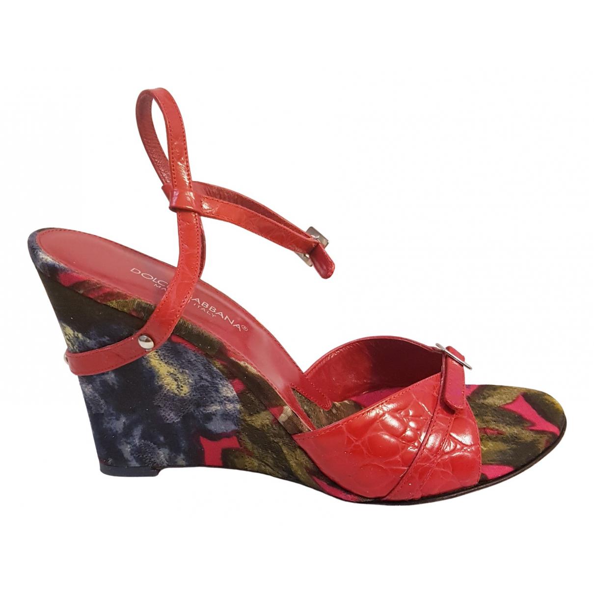 Sandalias de Cueros exoticos Dolce & Gabbana