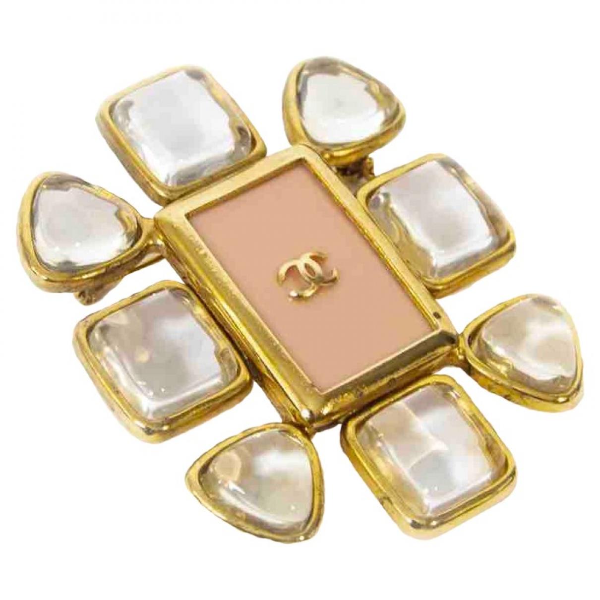 Chanel - Broche CHANEL pour femme en plaque or - dore
