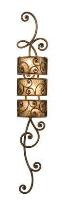 Windsor 5404AC 3-Light 3 Tier Wall Sconce in Antique Copper with Stained Champagne Mica