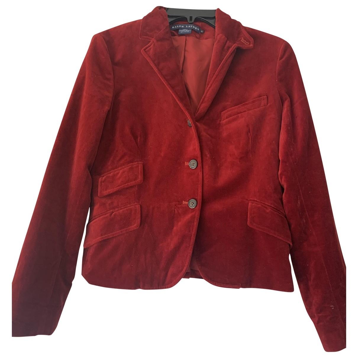 Ralph Lauren \N Jacke in  Rot Baumwolle
