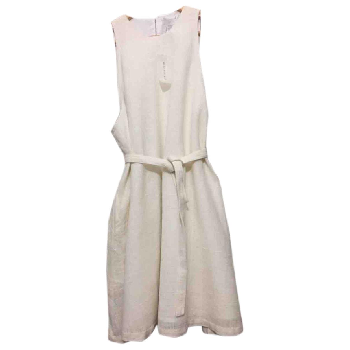 Khadi And Co \N White Linen dress for Women M International