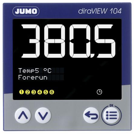 Jumo 00694789 , LCD, Segment Digital Panel Multi-Function Meter for Pressure, Temperature, 96mm x 96mm