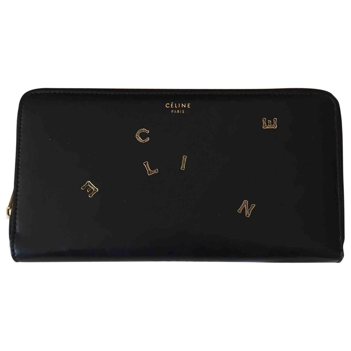 Celine \N Black Leather wallet for Women \N