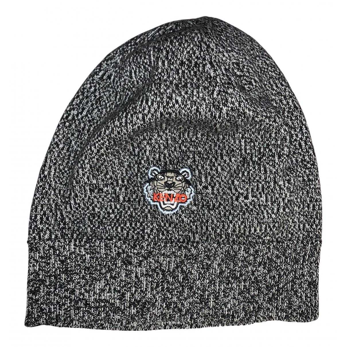 Kenzo - Chapeau & Bonnets   pour homme en coton - gris
